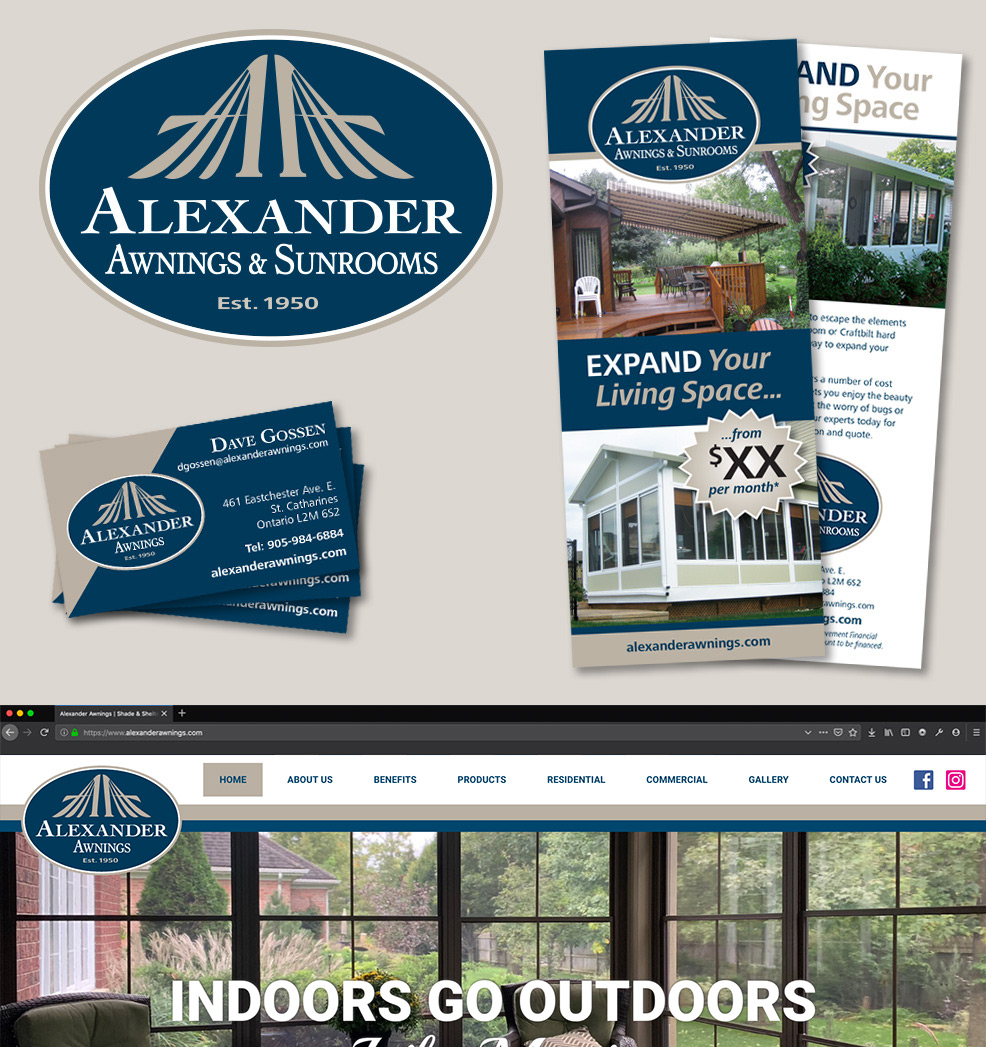 Alexander Awnings and Sunrooms Brand