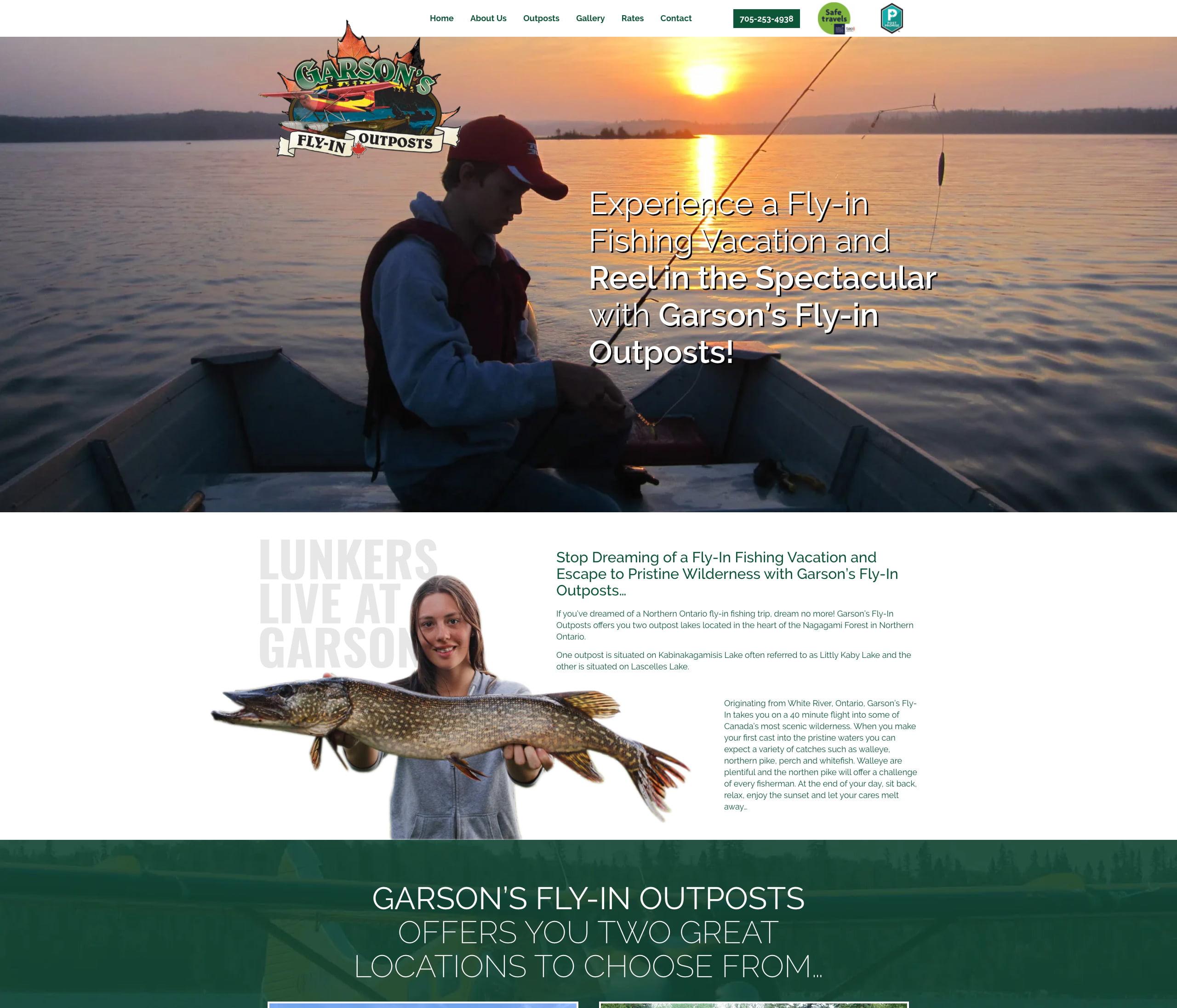 Garson's Fly-in Outposts Website Development
