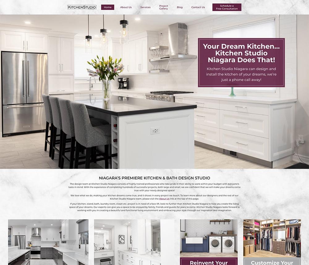 Kitchen Studio Niagara Website Development