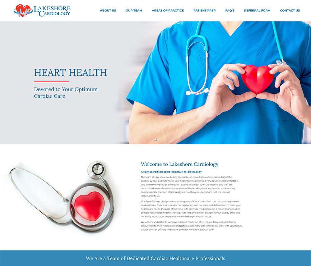 Lakeshore Cardiology Website Development
