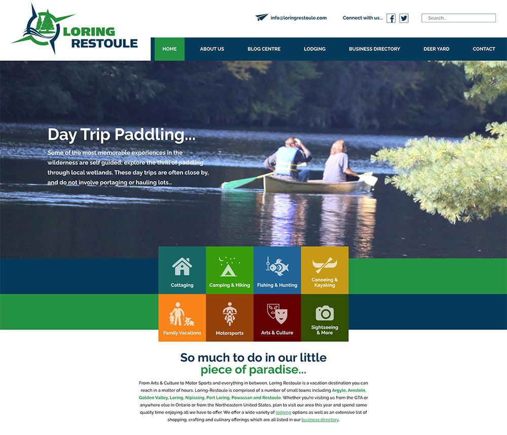 Loring Restoule Website Development