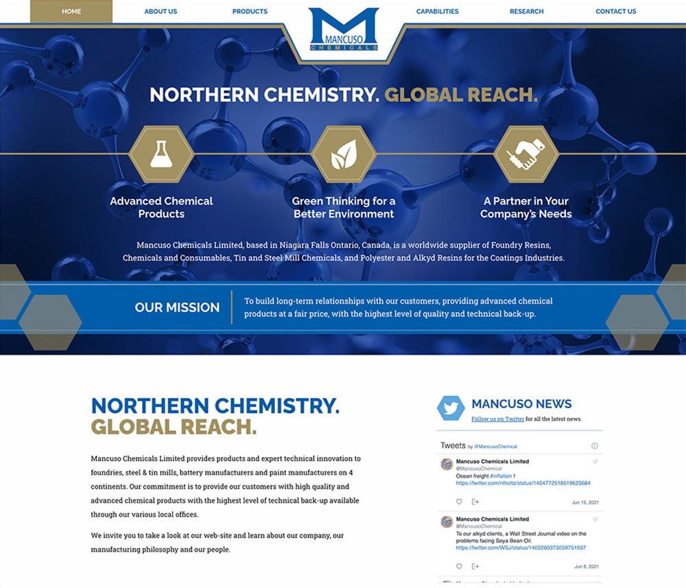 Mancuso Chemicals Website Development