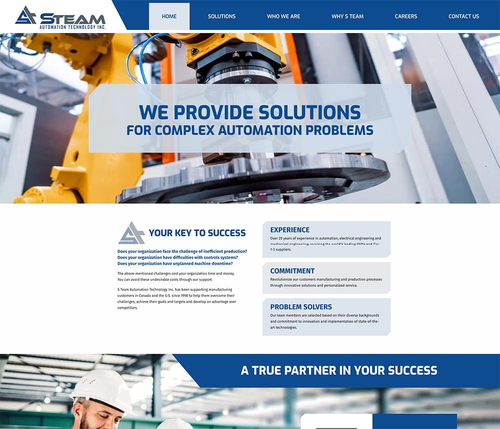 Steam Automation Technology Website Development