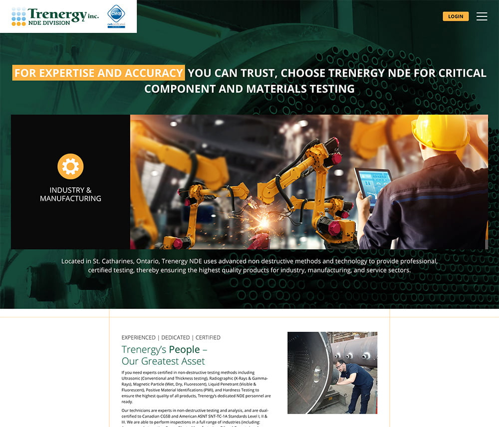 Trenergy NDE Website Development